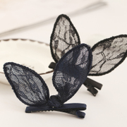 Xin Mei lace duck rabbit ear clip bangs clip Clip bangs combed