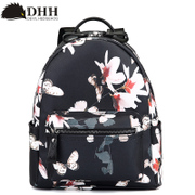 DHH Korean fashion print backpack schoolbag contracted England PU Institute of leisure air bag backpack