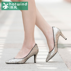 Hot sexy high heel stiletto shoes-fall 2015 ladies hot fix rhinestone dress shoes women's light 61H5835
