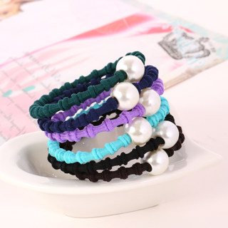 Know Richie headdress beaded rope string Korean Korean Pearl hair jewelry band rings