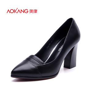 Aokang shoes spring 2016 simple workplace commuting popular female temperament pointed high heels new explosions