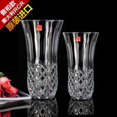 意大利RCR原装进口无铅玻璃百合花玫瑰花台面厚重款花瓶