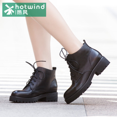 Hot winter boots women short boots casual shoes Martin England, wind straps with short boots 75H5987