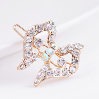 Good hair accessories Korean bow rhinestone Barrettes Korea jewelry tiara clip spring clip fashion women