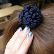 Know NI Korea Korea hair accessories new headdress layers of chiffon floral hair tie rope string women