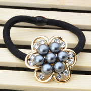 Synthesis of Crystal Pearl flower rings made by the Ya-na and South Korea provided accessories hair flowers rope string