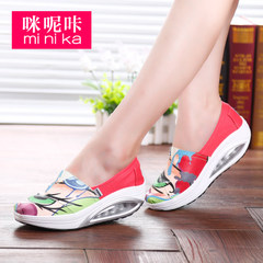 MI Ka fall 2015 Korean canvas cushioned rocking shoes girls casual shoes feet lazy shoes shoes shoes