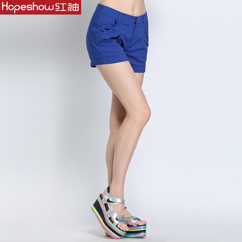 红袖专柜正品2015夏装新款 时尚潮搭提臀修腿短裤 H7162742