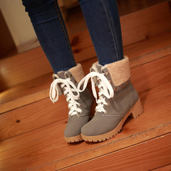 2015 new autumn and winter boots nubuck strap rivet head Martin boots with boot FEUeAAff