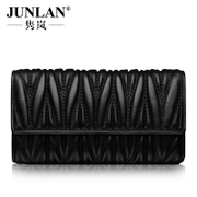 LAN new authentic purse Jurchen, June leather wallet women handbag lambskin large Korean version