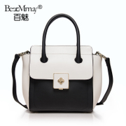 Hundreds of new leather women bag European fashion charm 2015 summer contrast color stitching single diagonal shoulder tote bag