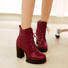 2015 Martin boots new fashion trends for fall/winter and thick-soled boots with a short barrel and crude with women's boots Western boots naked women