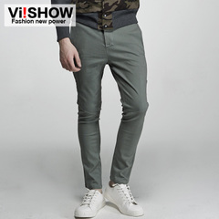 Viishow2015 spring new slacks men's wave of European men casual straight leg casual Pant