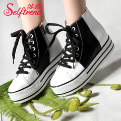 Interesting new trend-related leisure and spelling-school wind band thick-soled platform shoes shoes shoes T01618