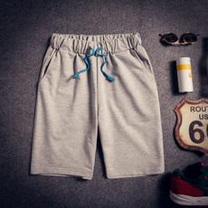 q中裤宽松运动沙滩修身休闲裤 五分七分短裤男士夏季薄款大码男生