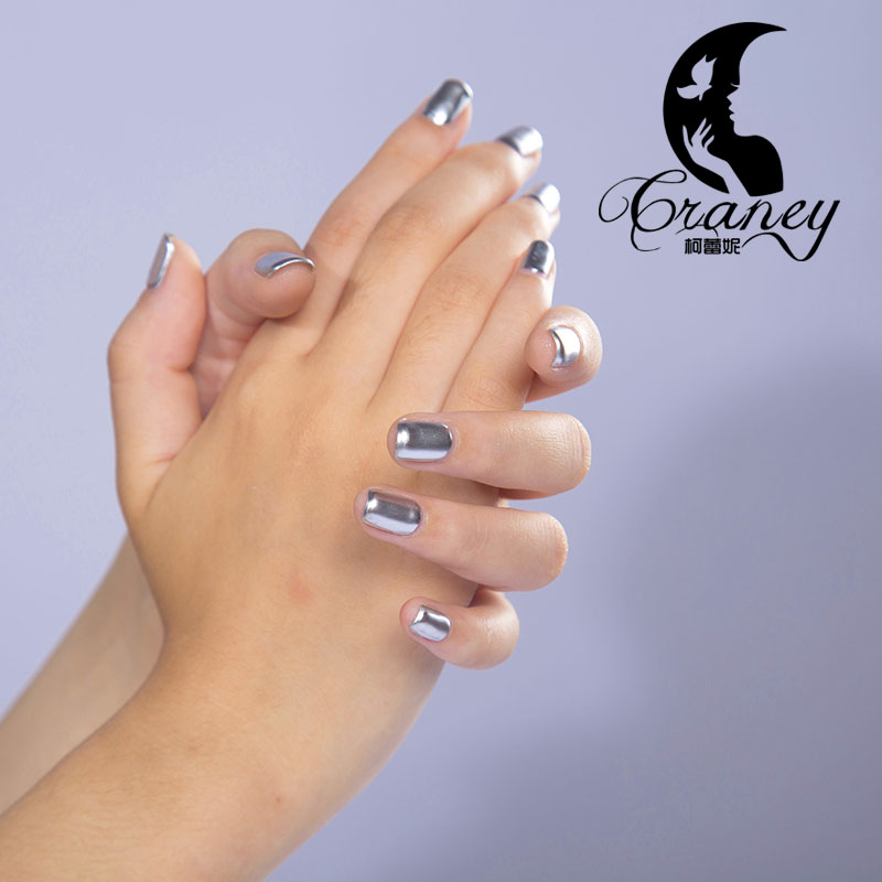 Craney genuine 2016 new mirror silver metallic nail polish tin foil ...
