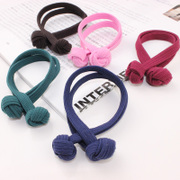 Cool na Korean elastic hair band Korean version of knotted string rope rings fashion jewelry 6018