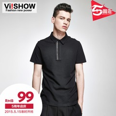 Viishow2015 summer of the new Polo man Paul short sleeves t shirt solid color Polo shirts slim short sleeve