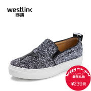 Westlink/West spring 2016 new Glett sequins Le Fu, thick-soled shoes foot women's shoe