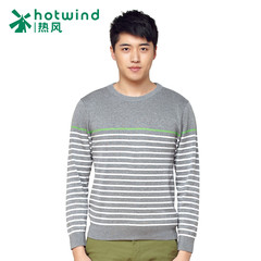 Hot spring spring men''''s casual thin sweaters men''''s striped long sleeve knit sweater 08W5101