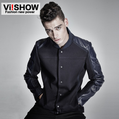 Viishow new men's jackets men's baseball in spring and autumn casual single-breasted collar jacket coat men