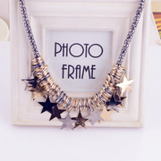 Good jewelry stars exaggerate Korea Korean decorative jewelry Jewelry Accessories short clavicle necklace bag-mail