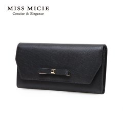 MICIE/beautiful city purse 2015 new wave European fashion bows leather large zip around wallet money clip