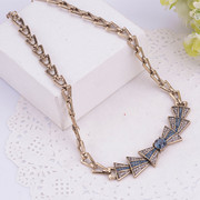 Good Europe 2015 new short chain necklace rhinestone necklace women exaggerated short clavicle chain accessories