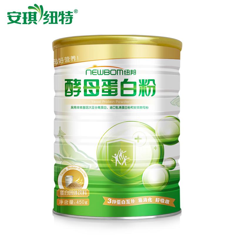 安琪纽特酵母纽邦蛋白粉中老年成人蛋白质粉营养品450g赠送钙片