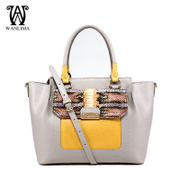 Wan Lima 2015 counters new cowhide print cowhide handbags women's baodan shoulder bag luxury fashion handbags bags