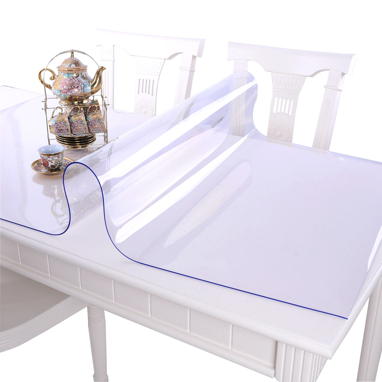 Soft Glass Pvc Tablecloth Waterproof Anti Hot Anti Oil Free Transparent Plastic Pad