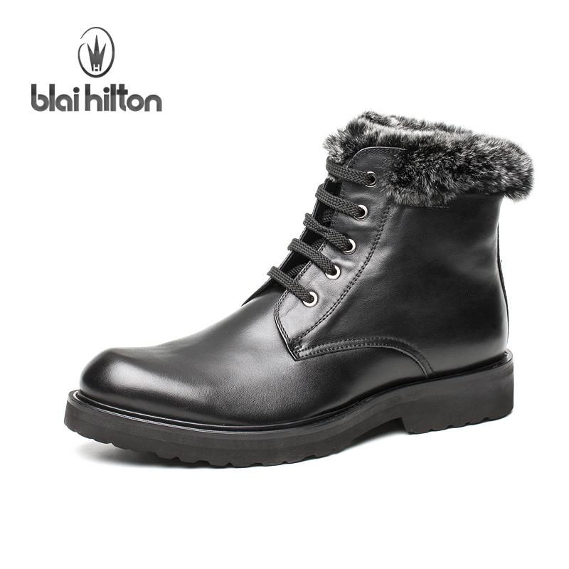 真皮军靴高帮工装靴潮冬保暖男鞋户外时尚短靴父亲鞋男式棉鞋