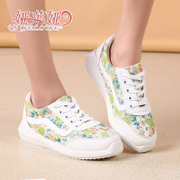 Autumn sweet new shoes floral student casual yalaiya shoes women's shoes running shoes women
