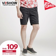 Viishow2015 summer dress new shorts men's dark grey shorts in Europe and America five pants straight leg Capris