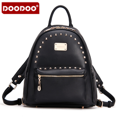 Doodoo rivets in autumn and winter backpack girl Korean version of tide and leisure Institute wind Pu leather backpack handbag bag