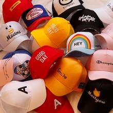 儿童帽子夏天网眼遮阳zk7女童男童qc帽儿童棒球帽透气太阳帽