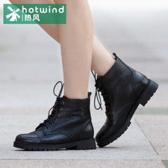 Hot black round series with stroke in England with Martin boots women spring autumn and winter wind tube women boots H81W5416