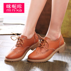 MI Ka autumn new retro shoes of England women's casual flat shoes asakuchi Oxford Shoes shoes