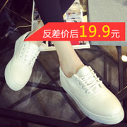 2015 winter new flat canvas female Korean student casual shoes with little white shoes canvas shoes women shoes
