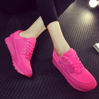 Fall 2015 increased Korean sports running shoes women's Candy-colored tie-back cushioned shoes and leisure boom