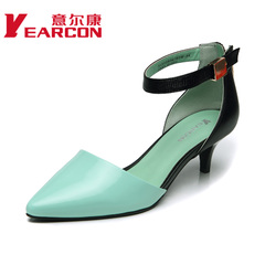 Erkang genuine leather fashion shoes spring/summer 2015 new European wind pointy heels women's shoes