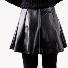 Leather skirt pleated skirt skirts and a pencil skirt fashion PU leather high waist Tutu skirt fall/winter new style woman