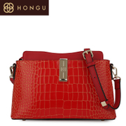 Honggu red Valley counter genuine crocodile pattern leather shoulder slung in 2016 new stylish woman for 6726
