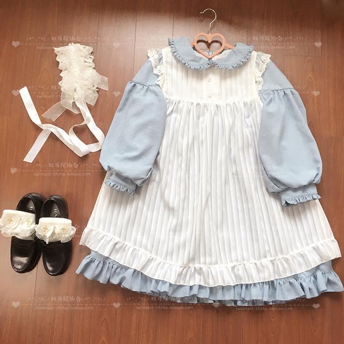纯色 娃娃 套装 连衣裙 复刻