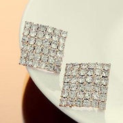 Good Korean version of simple fashion Flash diamond curved earrings Stud Earrings earring