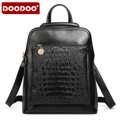 Doodoo casual backpack girl Korean version flows Institute 2015 fashion wind bag large capacity backpack