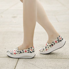 Microphone clicking canvas skull shook his shoes women fall 2015 low permeability shallow high platform shoes and leisure shoes women