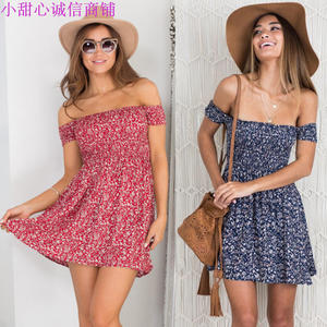 Summer Beach Skirt Dresses For Women Short Dress strapless