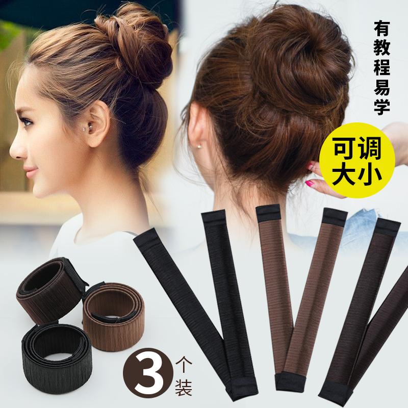 韩式盘头发的丸子头盘发器女盘头发夹造型蓬松懒人简约固定神器