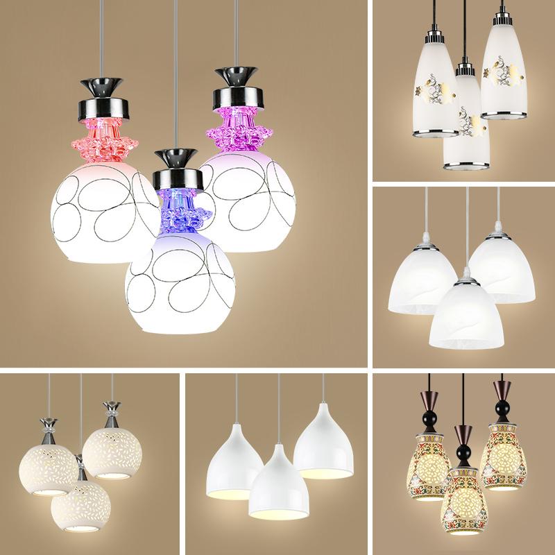 简约三头创意餐厅吊灯现代欧式餐桌灯时尚大气饭厅LED客厅灯具-唯华灯饰